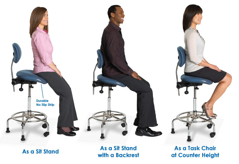 ErgoCentric 3 In 1 Sit Stand Chair