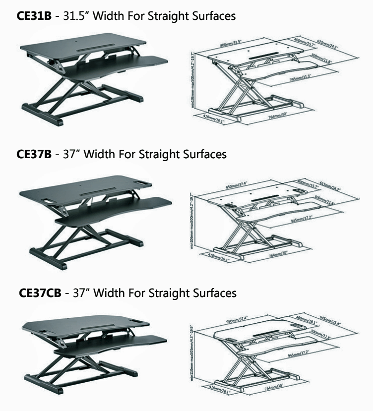 Engage Sit-Stand Desktop Workstation comparison