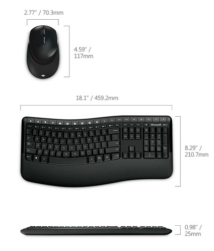 Keyboard measurements