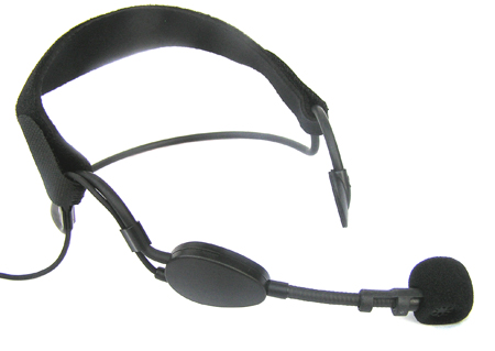 Unidirectional sweat-proof headset microphone