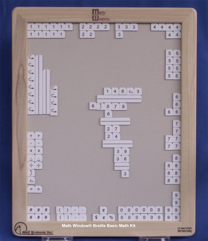 Math Window Braille Basic Math Kit
