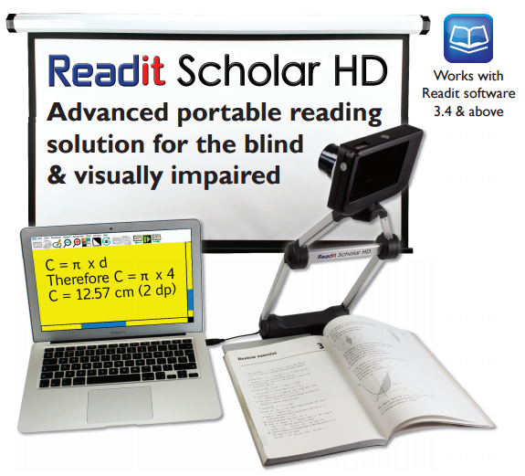 ReadIt Scholar for visually impaired students