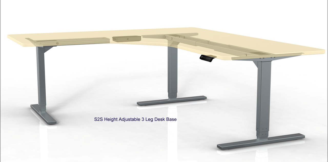 S2S HEIGHT ADJUSTABLE 3 LEG DESIGNER LAMINATE DESK