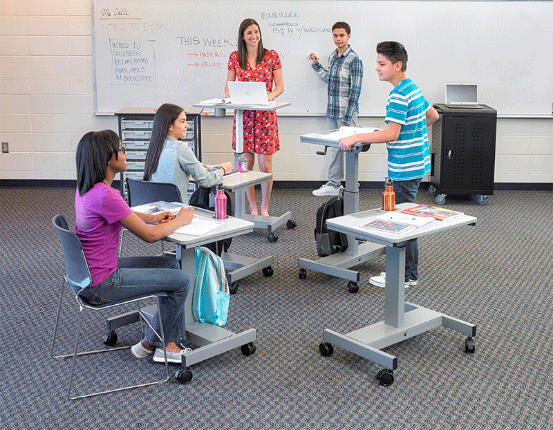STUDENT-C Student Desk - Manual Adjustable Desk