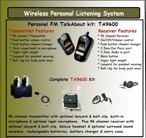 TalkAbout Personal FM System