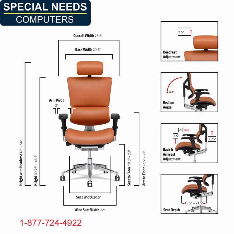 X4 Leather Exec Chair Measurements