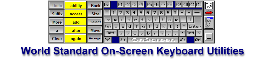 CrossScanner on-screen keyboard utility