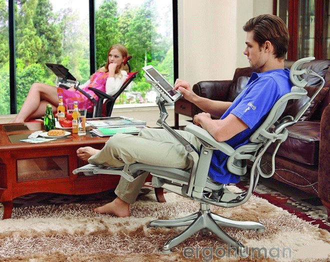 Ergohuman Plus Chair with Legrest, Note Book Arm
