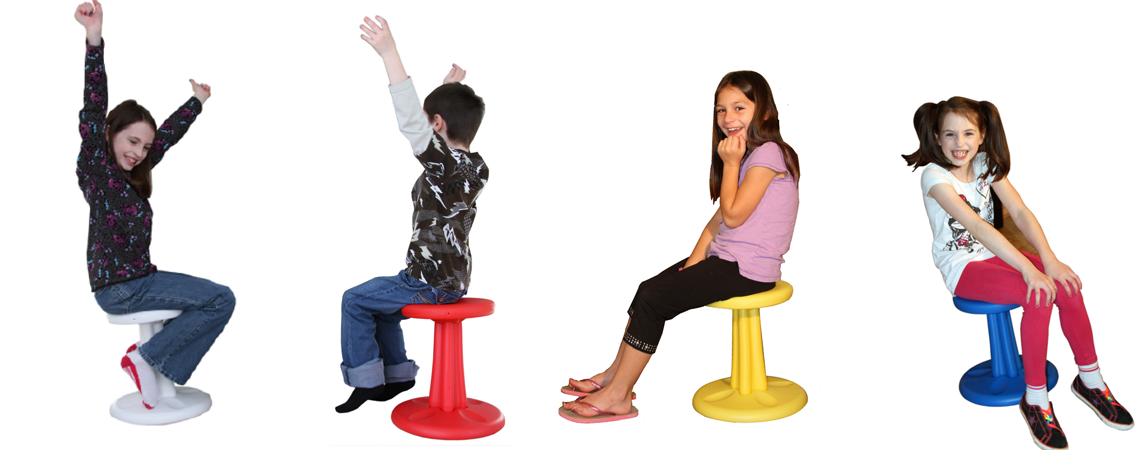 Kore Kids Wobble Chair Red