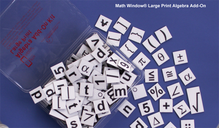 Math Window Large Print Algebra Add-On