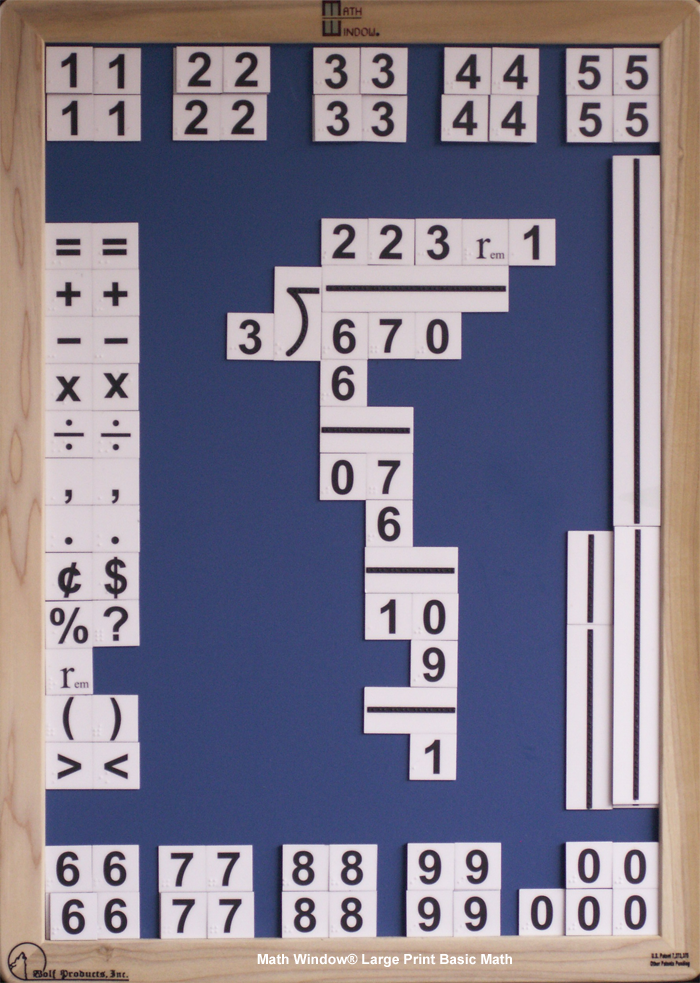 Math Window Large Print Basic Math
