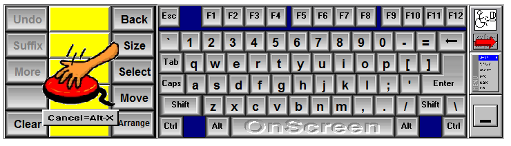 OnScreen Keyboard with WordComplete