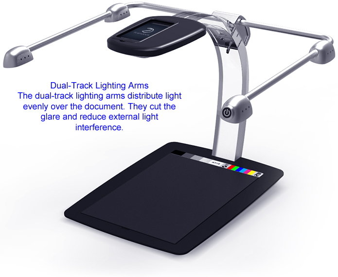 Scandock dual-track lighting arms