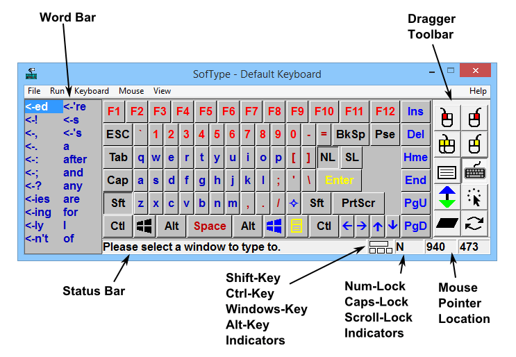 SofType Windows On-Screen Keyboard