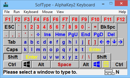SofType Keyboard layout