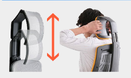 easy-to-adjust head/neck support