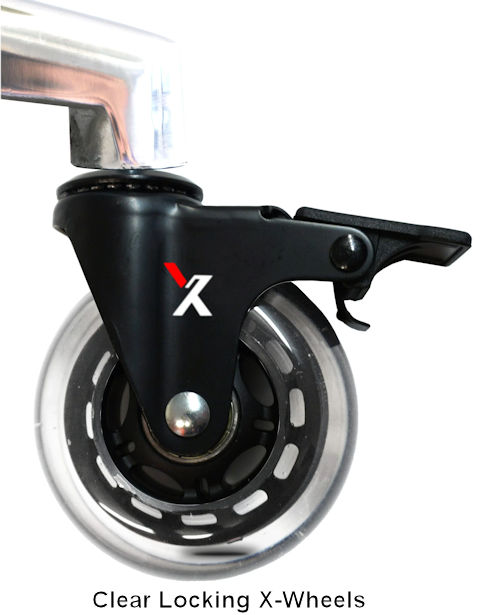 X-Wheel Casters (Clear, Locking)