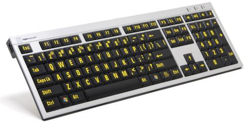 Xtra Large Print Slim Line Pc Keyboard