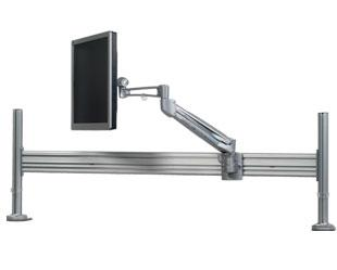 Sliding Monitor Arm   Desk Mount   MA RAIL42 2P17 G