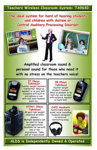Teachers Wireless Classroom System Ta9630