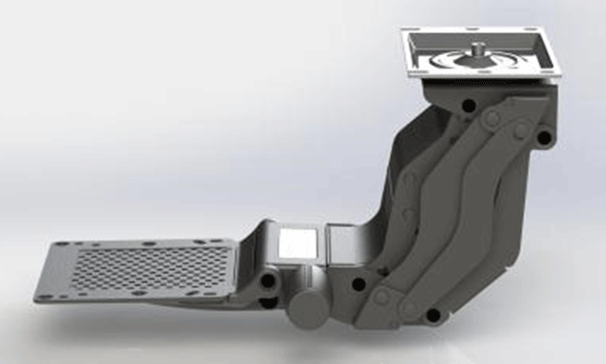 Trackless Folding Keyboard Tray System