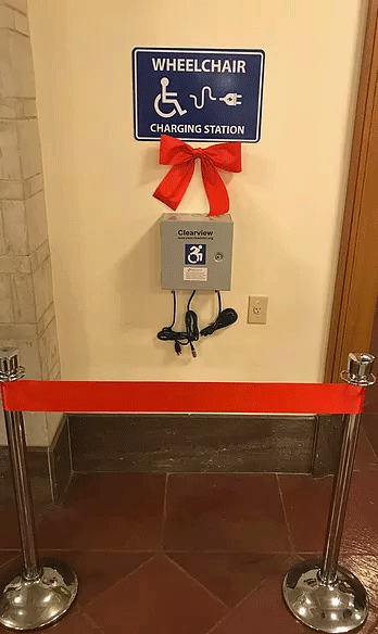 Wheelchair Charging Station