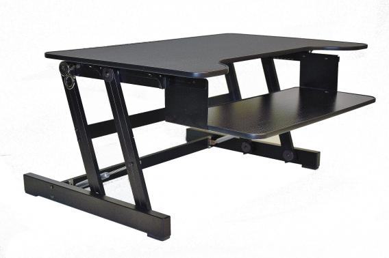 Rocelco Adr Sit To Stand Adjustable Desk Riser