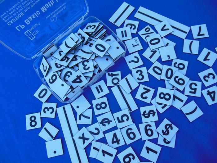 Large Print Basic Math Replacement Tiles - NEMETH - MW013