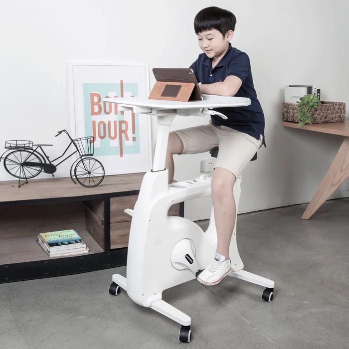 All In One Desk Bikes Deskcise Pro White, Stationary Desk Bike Reviews