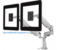 GX Dual LCD Counterbalance Desk Mount