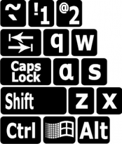 Large Print English Keyboard Labels