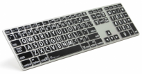 Large Print USB Apple Aluminum Keyboard