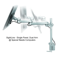 SightLine - Single Panel Dual Arm Monitor Arms