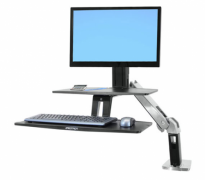WorkFit-A with Suspended Keyboard, Single HD