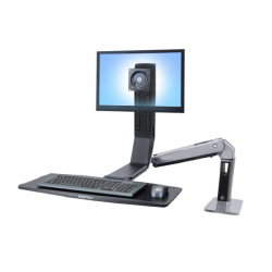 WorkFit-A, Single LD Sit-Stand Workstation
