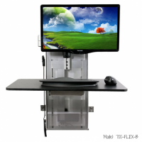 One-Touch FlexView Monitor Wall Mount Sit Stand System