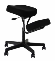 BetterPosture Solace Plus Kneeling Chair with Memory Foam – Black - BP445