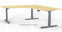 S2S Height Adjustable 3 Leg Desk