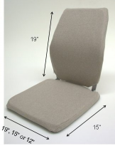 Sacro-Ease Memory Foam Chair Support - BRCCF