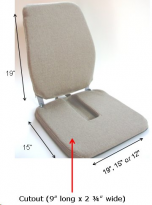 Sacro-Ease Foam Chair Support + Cut-out