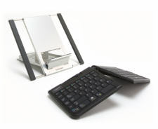 Goldtouch Go!2 Mobile Bundle - Go!2 Mobile USB Keyboard, Comfort Mouse-USB, Aluminum Stand