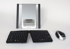 Goldtouch Go!2 Bluetooth Mobile Bundle - Go!2 Bluetooth Keyboard, Bluetooth Comfort Mouse, Aluminum Stand