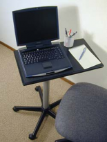 Foxbay Laptop Sit or Stand Laptop Workstation - 27""