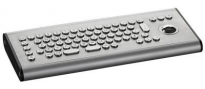 Compact desktop vandal keyboard with 38mm trackball