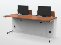 Dual User Electric Desk Line-of-Sight Multi-function Desk