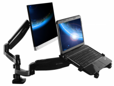 Loctek dual arm monitor mount & laptop mount - D5DL