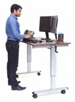"60"" Crank Adjustable Stand Up Desk"