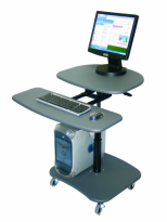 Adjustable Height Mobile Computer Workstation - LAMC3037