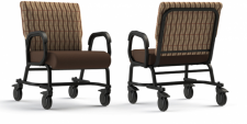 "Titan Plus+ Armed, 24"" wide bariatric chair with casters"