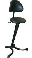 RISON Sit-Stand Leaning Stool with Back